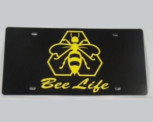 Bee Life Car Tag