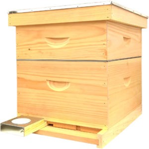 Assembled Deluxe Pine Hive