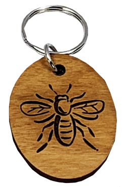 Wooden Bee Keychain