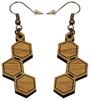 Closed Hexagon Loop Earrings