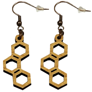 Open Hexagon Loop Earrings