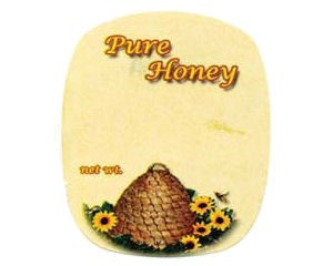 Jar Label - Sunflower Bee Skep