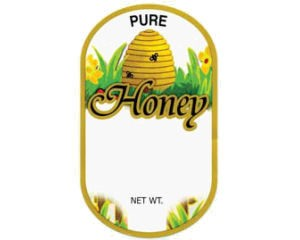 Jar Label – Golden Bee Skep